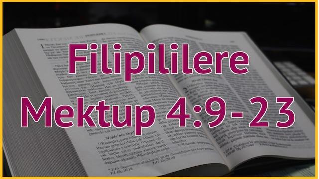 27 Filipililere 4:9-23